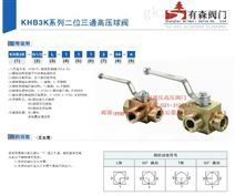 KHB3K-M42×2_外螺纹液压高压三通球阀