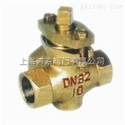 上海唐京X14W-10T三通内螺纹黄铜旋塞阀
